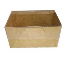 Caixa para Doces 02 unid Tampa PVC 7,5x4,5x4  Com 20