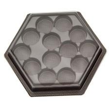 Caixa para Doces em Plástico 13 Cavidades Sextavada Com 10
