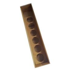 Caixa para Rosa e Doces 32x6x6 KRAFT Tampa PVC Com 10