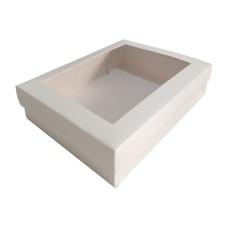 Caixa para Lembrancinha Visor Acetato 19,5x15x4,5 BRANCO Com 10