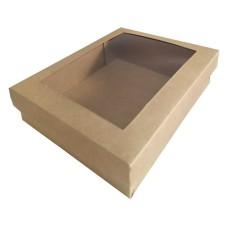 Caixa para Lembrancinha Visor Acetato 19,5x15x4,5 KRAFT Com 10