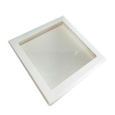 Caixa para Lembrancinha BRANCO Visor Acetato 25x25x5 Com 10