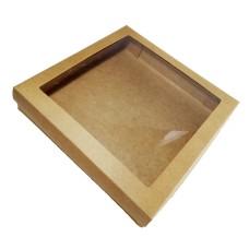 Caixa para Lembrancinha KRAFT Visor Acetato 25x25x5 Com 10
