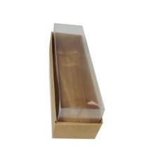 Caixa para 06 Macaron 15x4x4,5 KRAFT Corpo PVC com 10