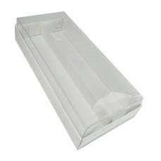 Caixa para 20  Macaron com Berço 21x9,5x4,5 BRANCO Corpo PVC com 10
