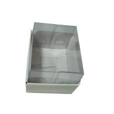 Caixa para 02 Macaron 5x4x4,5 BRANCO Corpo PVC com 10