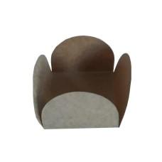 Caixeta Forma para doce 4 Pétalas 3,5x3,5x2,5 KRAFT Com 100