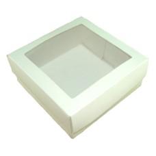 Caixa para Lembrancinha Visor PVC 11,5x11,5x4,5 Com 10