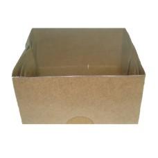 Caixa para Sabonete KRAFT Tampa Acetato 8x8x4  Com 10