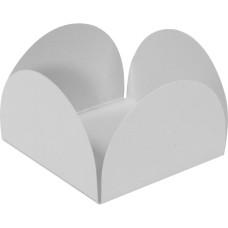 Caixeta Forma para doce 4 Pétalas 3,5x3,5x2,5 BRANCO Com 100