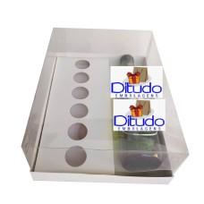 Caixa para Garrafa e Doces 24x18,5x9 BRANCO Corpo PVC Com 10