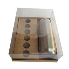 Caixa para Garrafa e Doces 24x18,5x9 KRAFT Corpo PVC Com 10