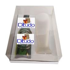 Caixa para Garrafa e Tulipa 24x18,5x9 BRANCO Corpo PVC Com 10
