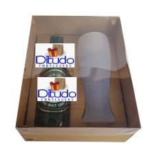 Caixa para Garrafa e Tulipa 24x18,5x9 KRAFT Tampa PVC Com 10