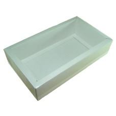 Caixa para Padrinhos de Batizado 28,8x16,8x6,5 BRANCO Tampa PVC Com 10