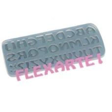 Forma Molde de Silicone Alfabeto Médio Ref.311 Flexarte
