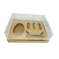 Caixa Monte seu Ovo de Colher 250gr 24x18,5x9 KRAFT Corpo PVC Com 10