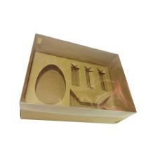 Caixa Monte seu Ovo de Colher 250gr 24x18,5x9 Tampa PVC Com 05
