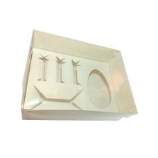 Caixa Monte seu Ovo de Colher 250gr 24x18,5x9 BRANCO Tampa PVC Com 10