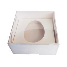 Caixa para Ovo de Colher 50gr 8x8x4 BRANCO Tampa PVC Com 10