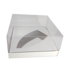 Caixa para Barca de Chocolate BWB G 17x17x9 BRANCO Corpo PVC Com 10