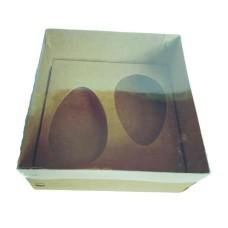 Caixa para Ovo de Colher 2x100/150gr 17x17x9 KRAFT Tampa PVC Com 10