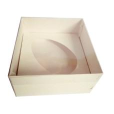 Caixa para Ovo de Colher 350gr 17x17x9 BRANCO Tampa PVC Com 10