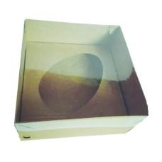 Caixa para Ovo de Colher 350gr 17x17x9 KRAFT Tampa PVC Com 10