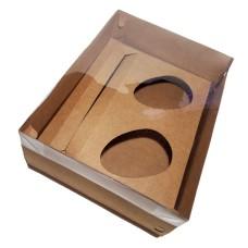 Caixa para Ovo Colher 2x100/150gr e Doces 24x18,5x9 KRAFT Tampa PVC C/10