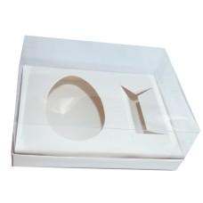 Caixa para Ovo de Colher 350gr e Doces 24x18,5x9 BRANCO Corpo PVC Com 10