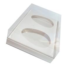 Caixa para Ovo de Colher 2x500gr 30x22x9 BRANCO Corpo PVC Com 10