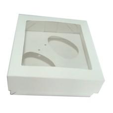 Caixa para Ovo de Colher 2x50gr 11,5x11,5x4,5 BRANCO Com 10