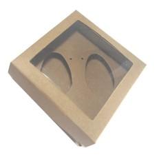 Caixa para Ovo de Colher 2x50gr 11,5x11,5x4,5 KRAFT Com 10