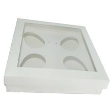 Caixa para Ovo de Colher 4x50gr 15,5x15,5x4 BRANCO Com 10