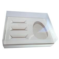 Caixa para Ovo de Colher 500gr e Doces 30x22x9 BRANCO Corpo PVC Com 10