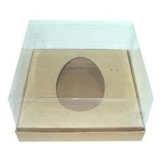 Embalagem Para Ovo De Colher 250gr 17x17x9 KRAFT Corpo PVC Com 10