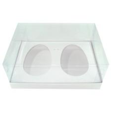 Caixa para Ovo de Colher 2x350gr 24x18,5x9 BRANCO Corpo PVC Com 10