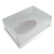 Caixa para Ovo de Colher 500gr 22x15,5x9 BRANCO Corpo PVC Com 10