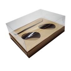 Caixa para Ovo de Colher 2x100/150gr e Doces 24x18,5x9 KRAFT Corpo PVC C/10
