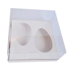 Caixa para Ovo de Colher 2x100/150gr 17x17x9 BRANCO Corpo PVC Com 10