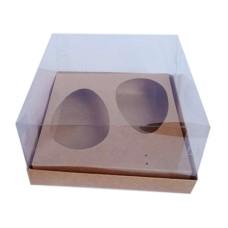 Caixa para Ovo de Colher 2x100/150gr 17x17x9 KRAFT Corpo PVC Com 10