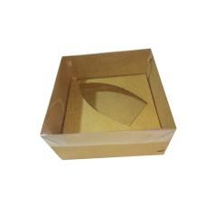 Caixa para Barca de Chocolate BWB G 17x17x9 Tampa PVC Com 10