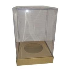 Caixa para Ovo de Páscoa 500/750gr Corpo PVC 12x12x22 Com 10