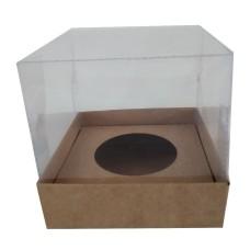 Caixa para Ovo de Páscoa 100gr 10X10X10 KRAFT Corpo Acetato Com 10