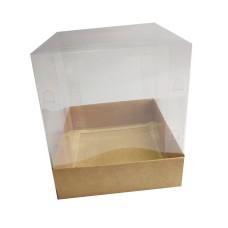 Caixa para Panetone 100gr 10X10X10 Corpo PVC Com 10