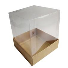 Embalagem para Mini Bolo 15X15X18 Corpo PVC com 10