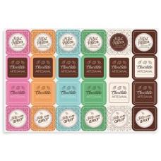 Cartela Adesiva Chocolatier Cromus Com 48