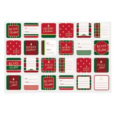 Cartela Adesiva Natal Sofisticação Cromus Com 48