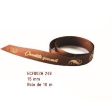 Fita de Cetim Chocolate Gourmet Marrom 1,5cmx10mt ECF003H 248