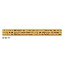 Fita de Cetim Frases Doces Dourado  2,2cmx10mt ECF005D 271